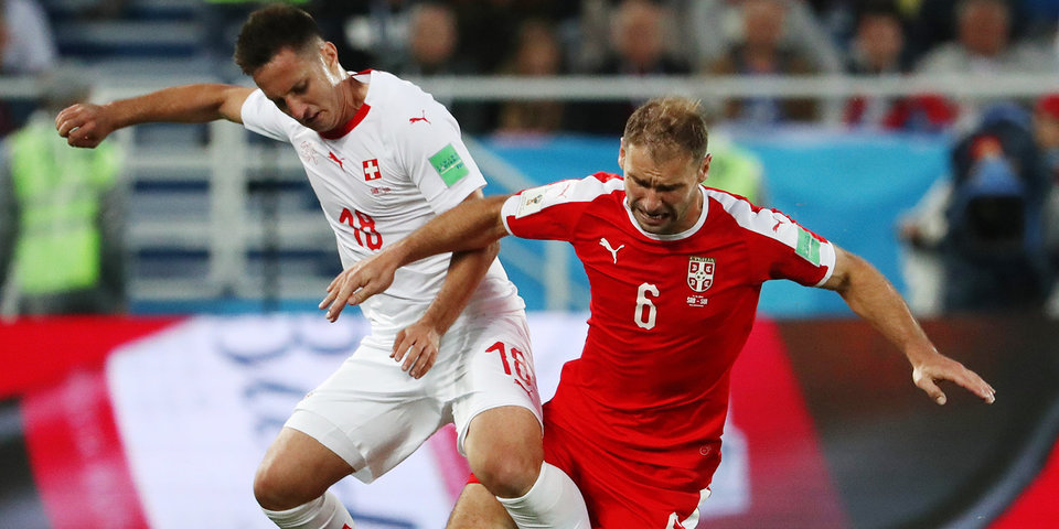 Сербия на последних минутах проиграла Швейцарии