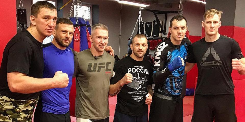 Спарринг Артема Дзюбы с тяжеловесом UFC Александром Волковым попал на видео