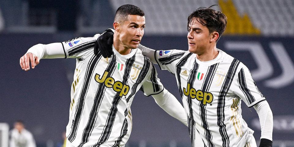 «Ювентус» обыграл «Интер» в первом матче 1/2 финала Кубка Италии, Роналду оформил дубль