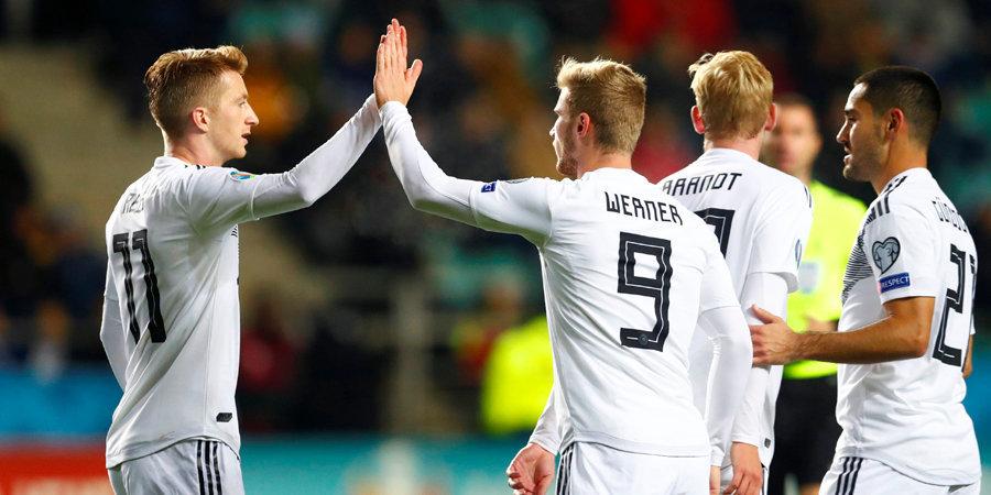 Поляки вышли на Евро-2020, Германия в меньшинстве крупно обыграла Эстонию, гола Влашича не хватило Хорватии для победы
