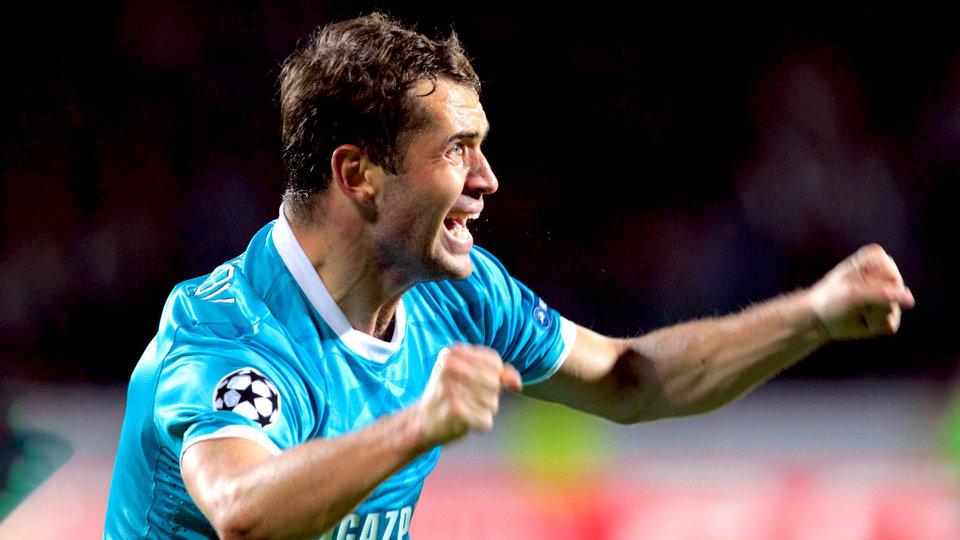 УЕФА вспомнил хет-трик Кержакова в день рождения экс-игрока «Зенита»