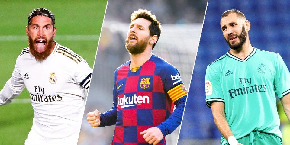 Четверо из «Реала» и только Месси из «Барсы». Составили символическую сборную сезона в Ла Лиге