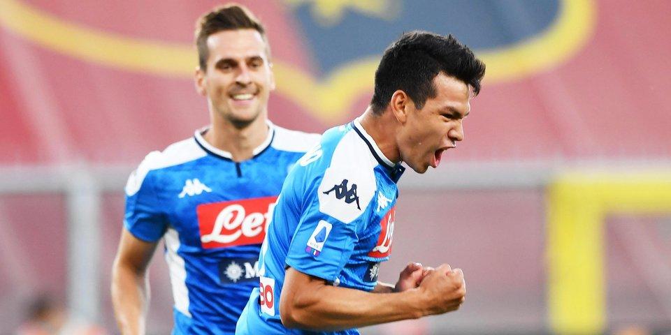 «Наполи» забил шесть безответных мячей «Дженоа», «Милан» в гостях обыграл «Кротоне»