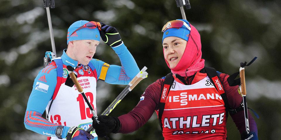 Русские биатлонисты победили вРождественской гонке вГермании