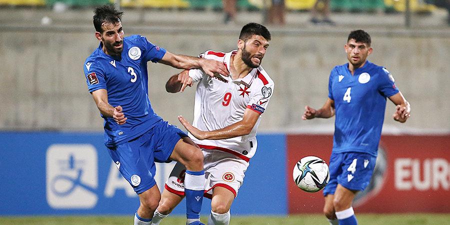 Сборная Мальты вырвала ничью у Кипра в отборе на ЧМ-2022