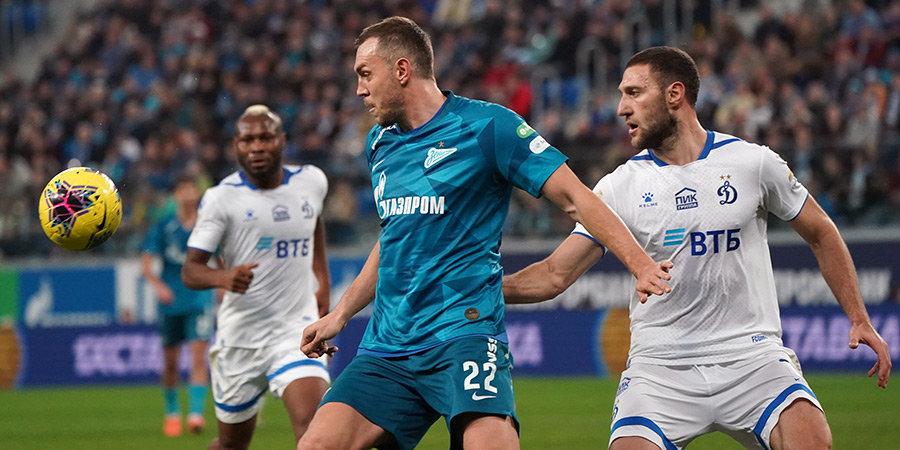 Забив третий гол, «Зенит» начал думать о «Бенфике». Главное о матче петербуржцев с «Динамо»