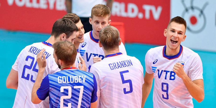 Российские волейболисты обыграли Тунис на Кубке мира