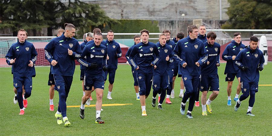 Сборная России готовится к матчу с Мальтой в полном составе