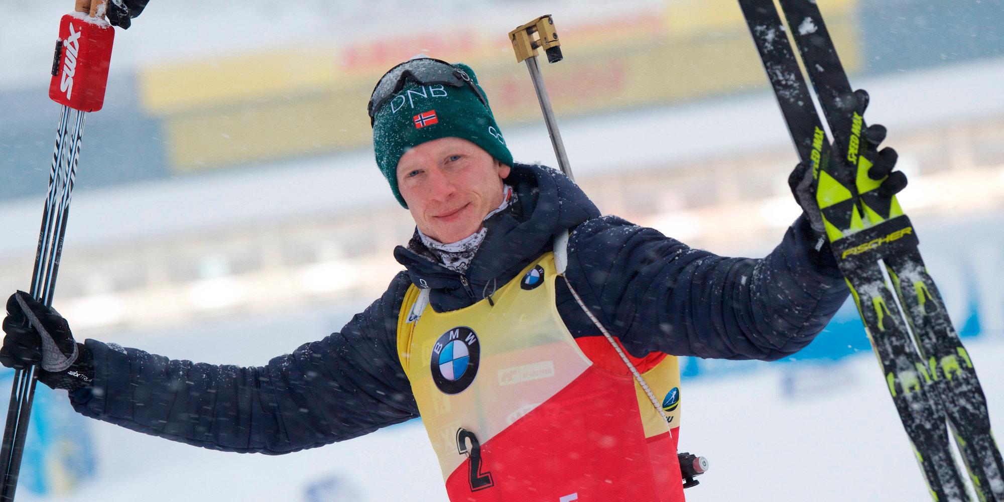 Норвежский биатлонист Йоханнес Бё одержал восьмую победу в сезоне
