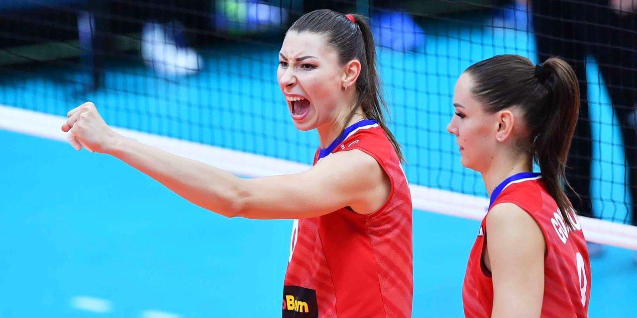 Российские волейболистки победили в первом матче Лиги наций