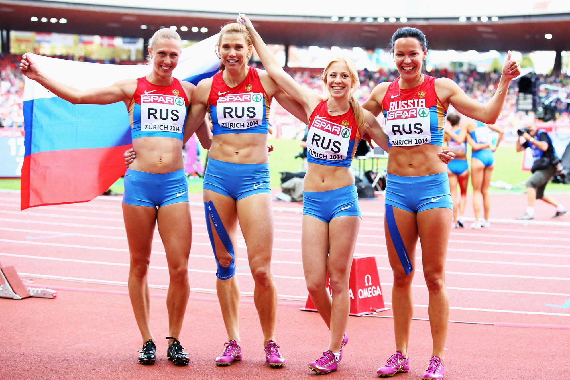 Фото российских легкоатлетов