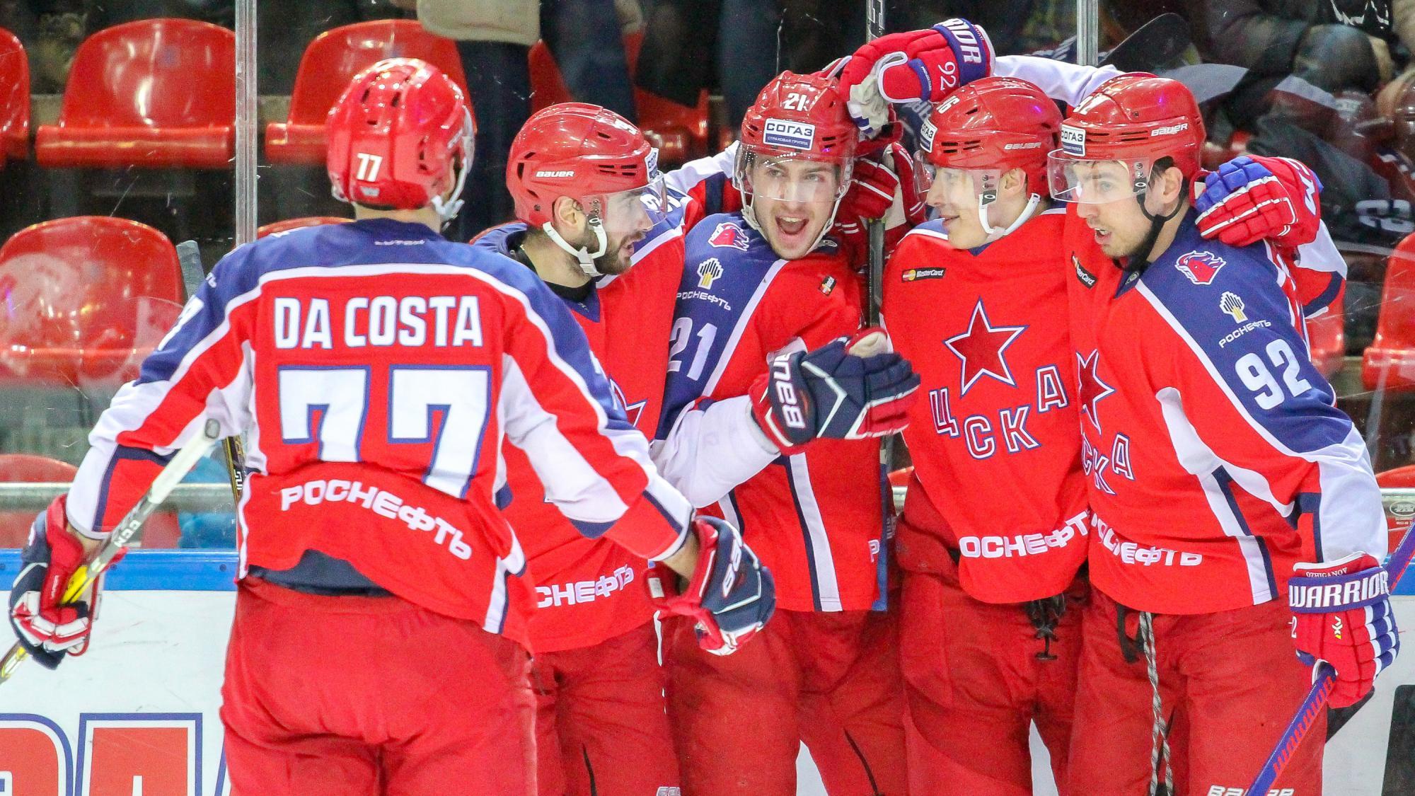 ЦСКА разгромил «Спартак» и одержал победу постоянный чемпионат КХЛ