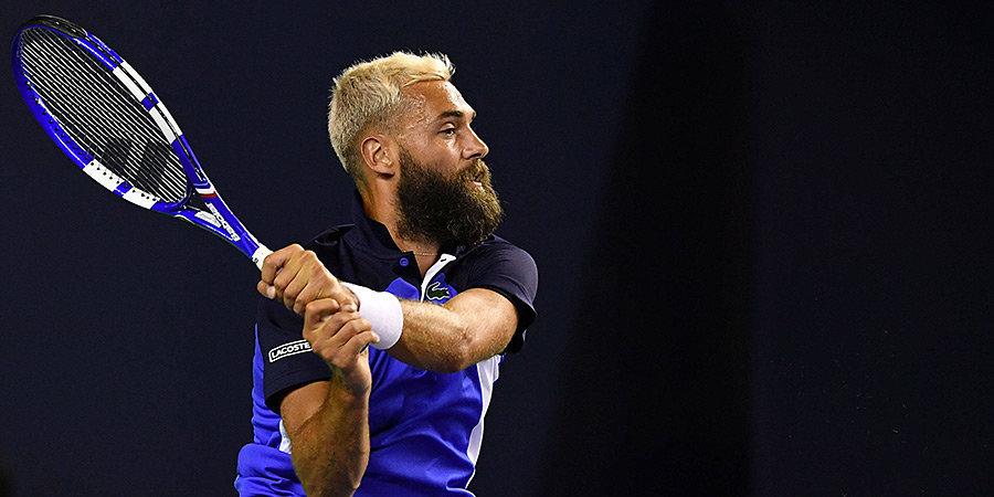 Бенуа Пер передумал играть в теннис по ходу матча в Риме: бил ракеткой по бутылке с водой и отправлял мяч в сетку (видео)