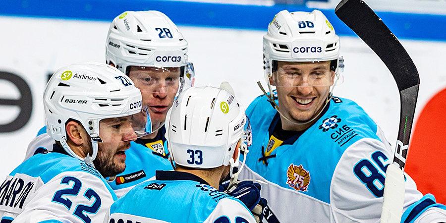 «Сибирь» на выезде победила «Салават Юлаев» в матче КХЛ