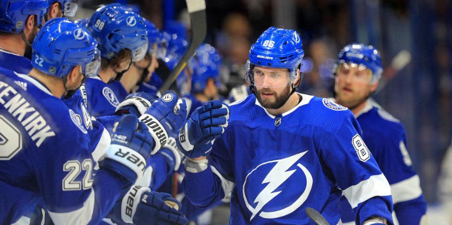 Кучеров поднялся на 10-е место по очкам среди россиян в истории плей-офф НХЛ