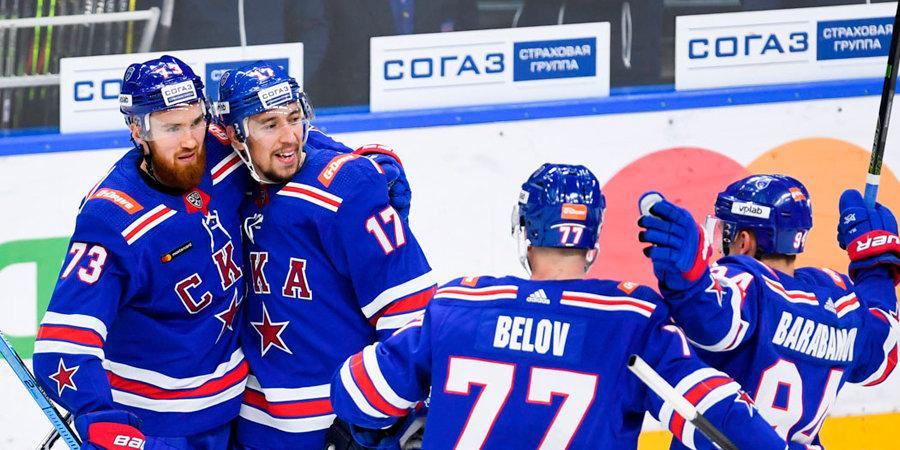 СКА продлил победную серию до десяти матчей, обыграв «Ак Барс» по буллитам