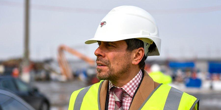 Александр Крылов — о ходе строительства арены «Авангарда»: «Мы в графике. Я очень доволен»