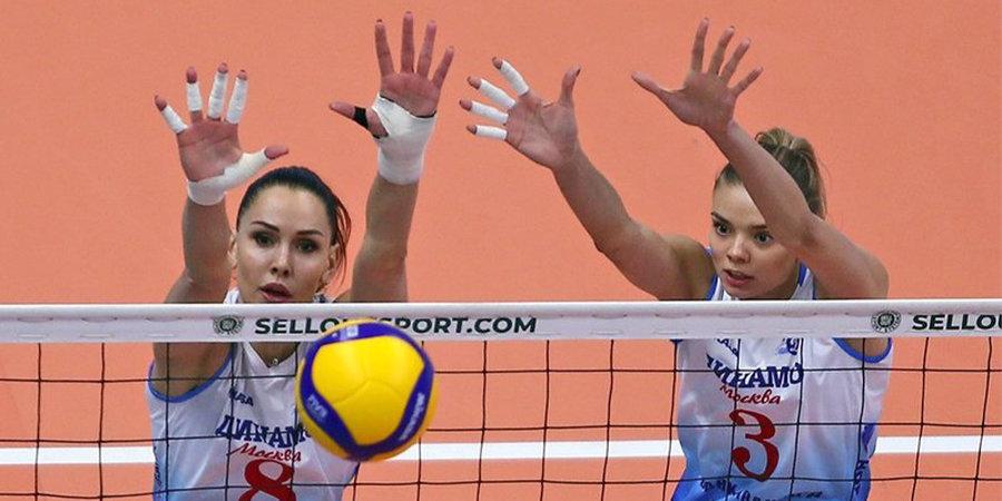 Московское «Динамо» одержало восьмую победу подряд в женской Суперлиге, обыграв «Тулицу»