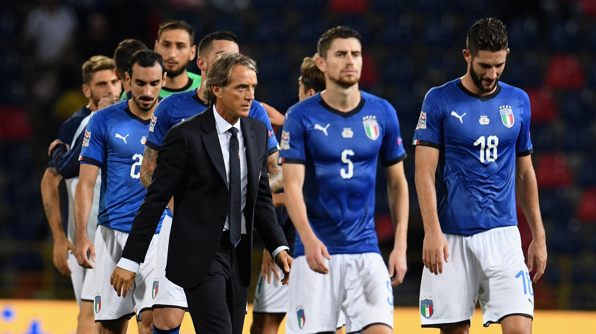 Збірна Італії під керівництвом Роберто Манчіні переживає кризу
