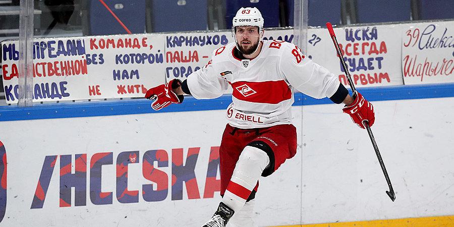 Дубль Бакоша помог «Спартаку» в гостях победить «Йокерит»