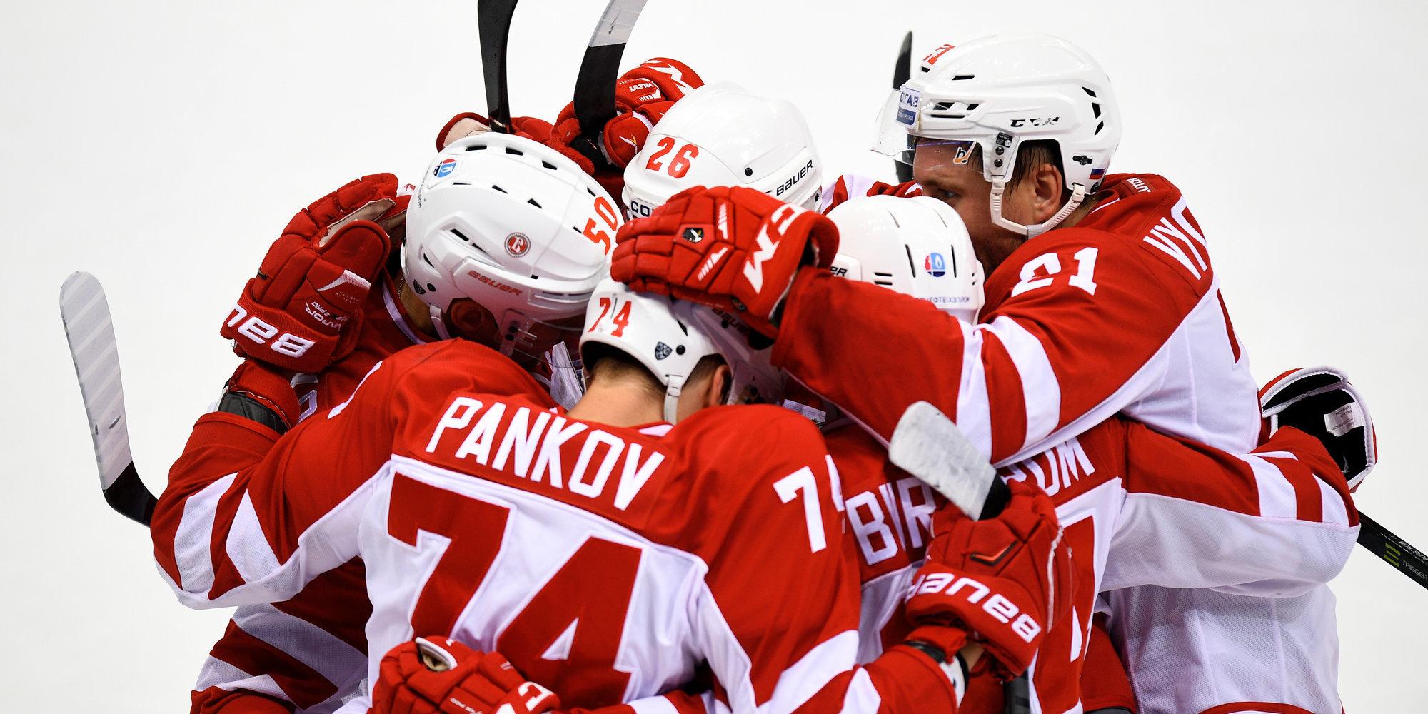 Дубль Афиногенова помог «Витязю» одолеть «Сибирь» вматче чемпионата КХЛ