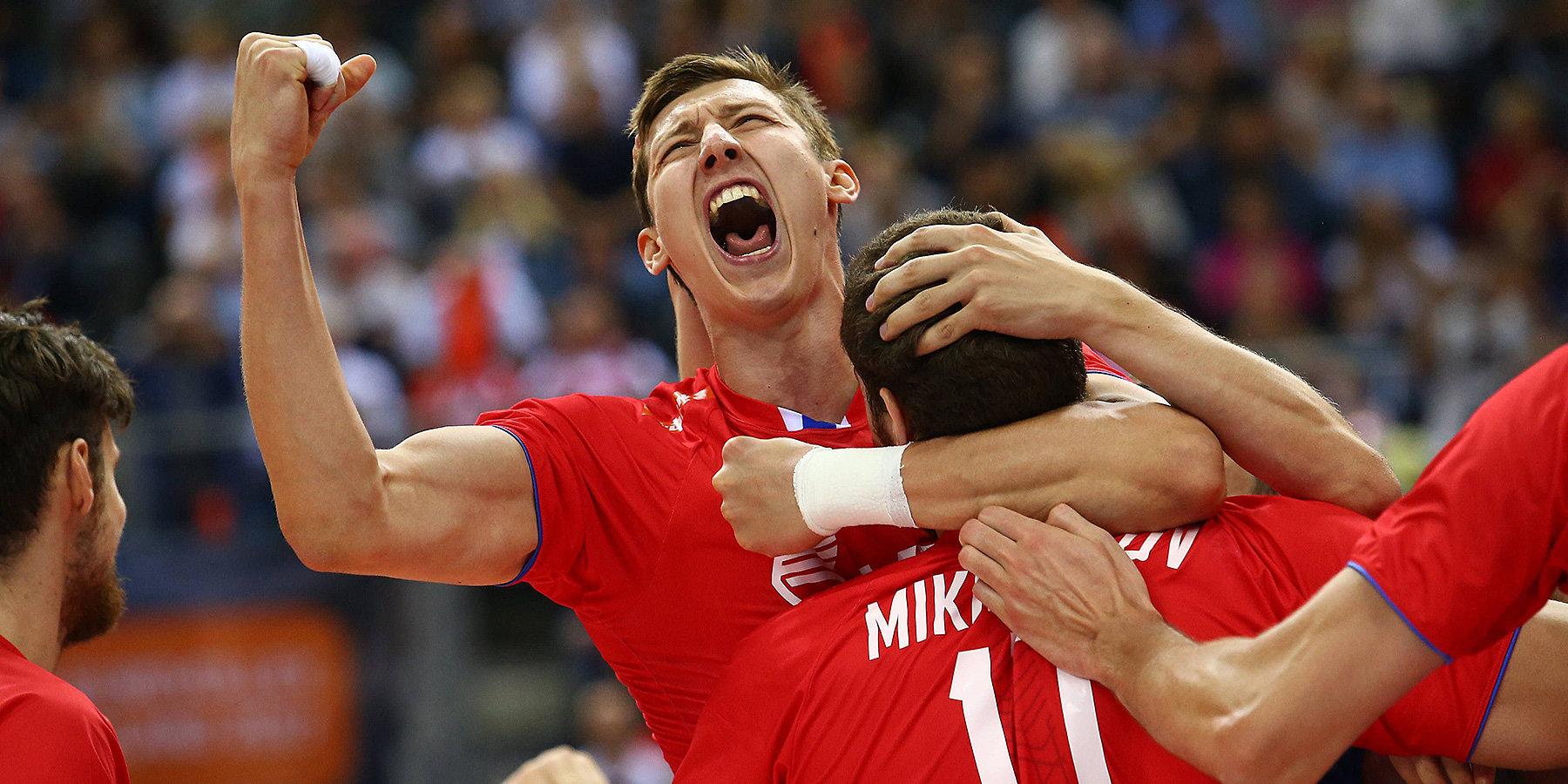 Российские волейболисты одержали победу над командой Бразилии в Лиге наций
