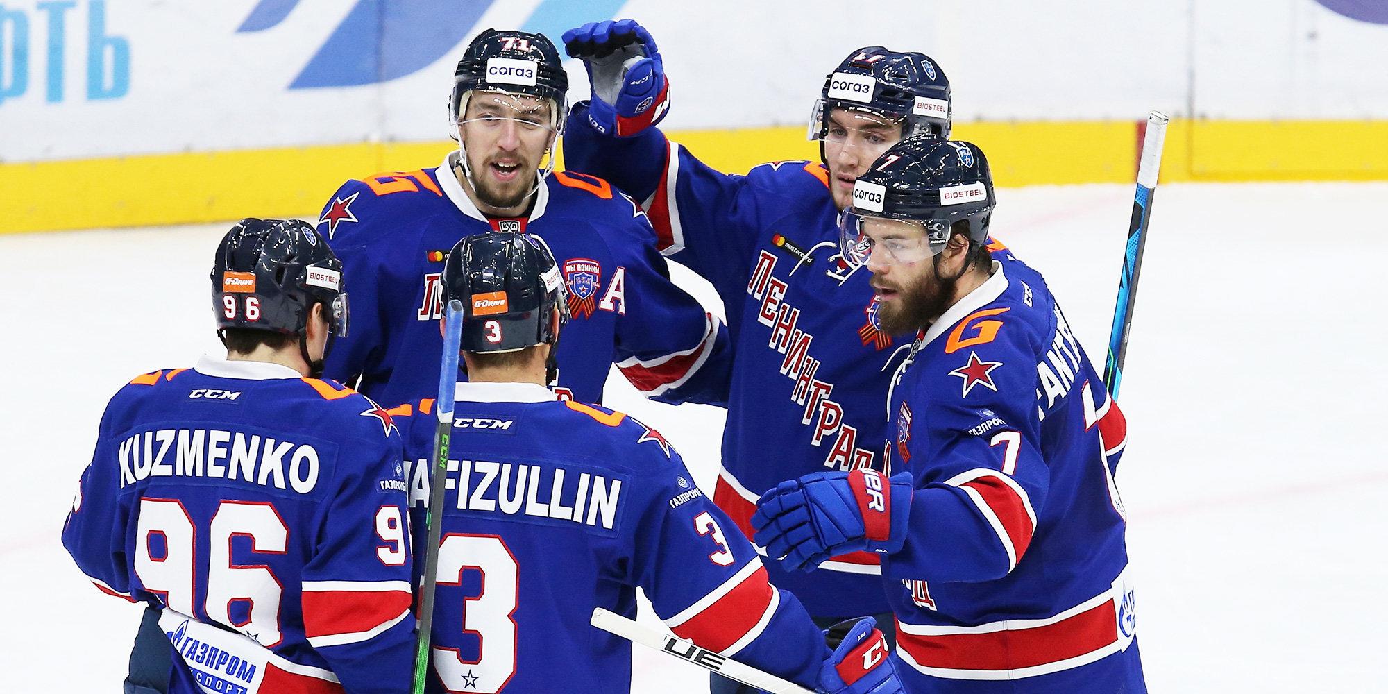 СКА отправил пять безответных шайб в ворота «Спартака» и обеспечил себе место в плей-офф