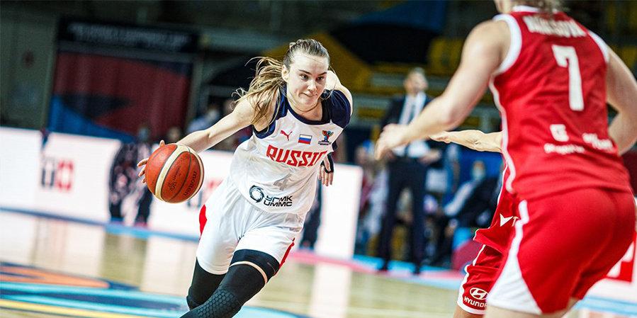 Женская сборная России обыграла Чехию в стартовом матче Евробаскета