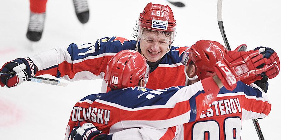 Дубль Толчинского принес ЦСКА четвертую победу над СКА в сезоне