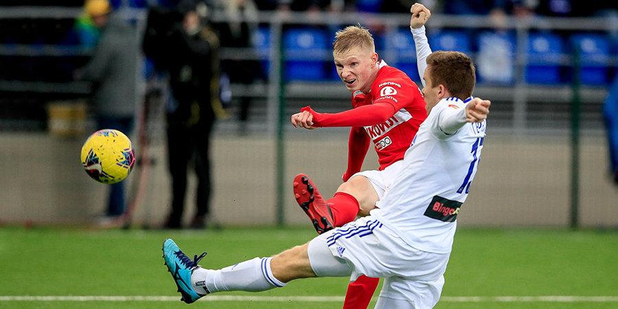 «Спартак» одержал волевую победу над «Оренбургом», играя самым молодым составом в XXI веке