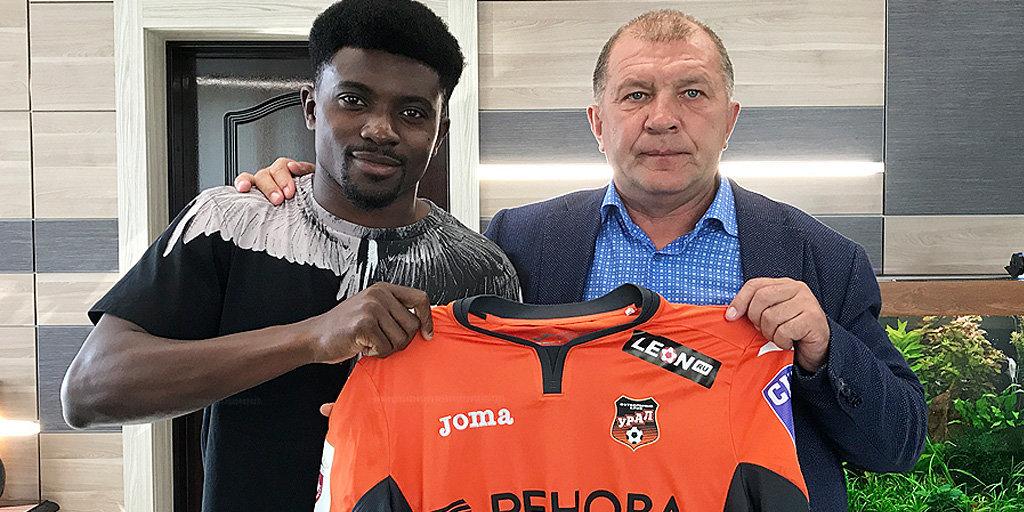 СоставФК «Урал» пополнил 24-летний камерунский полузащитник Петрюс Бумаль