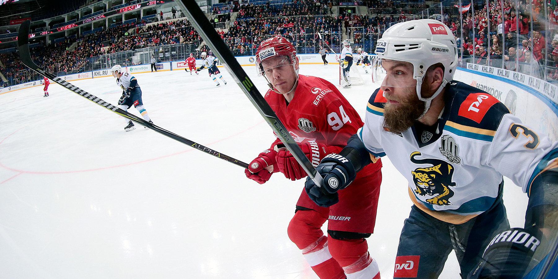 «Сочи» обыграл «Спартак» ипродлил серию побед вКХЛ до 5-ти матчей
