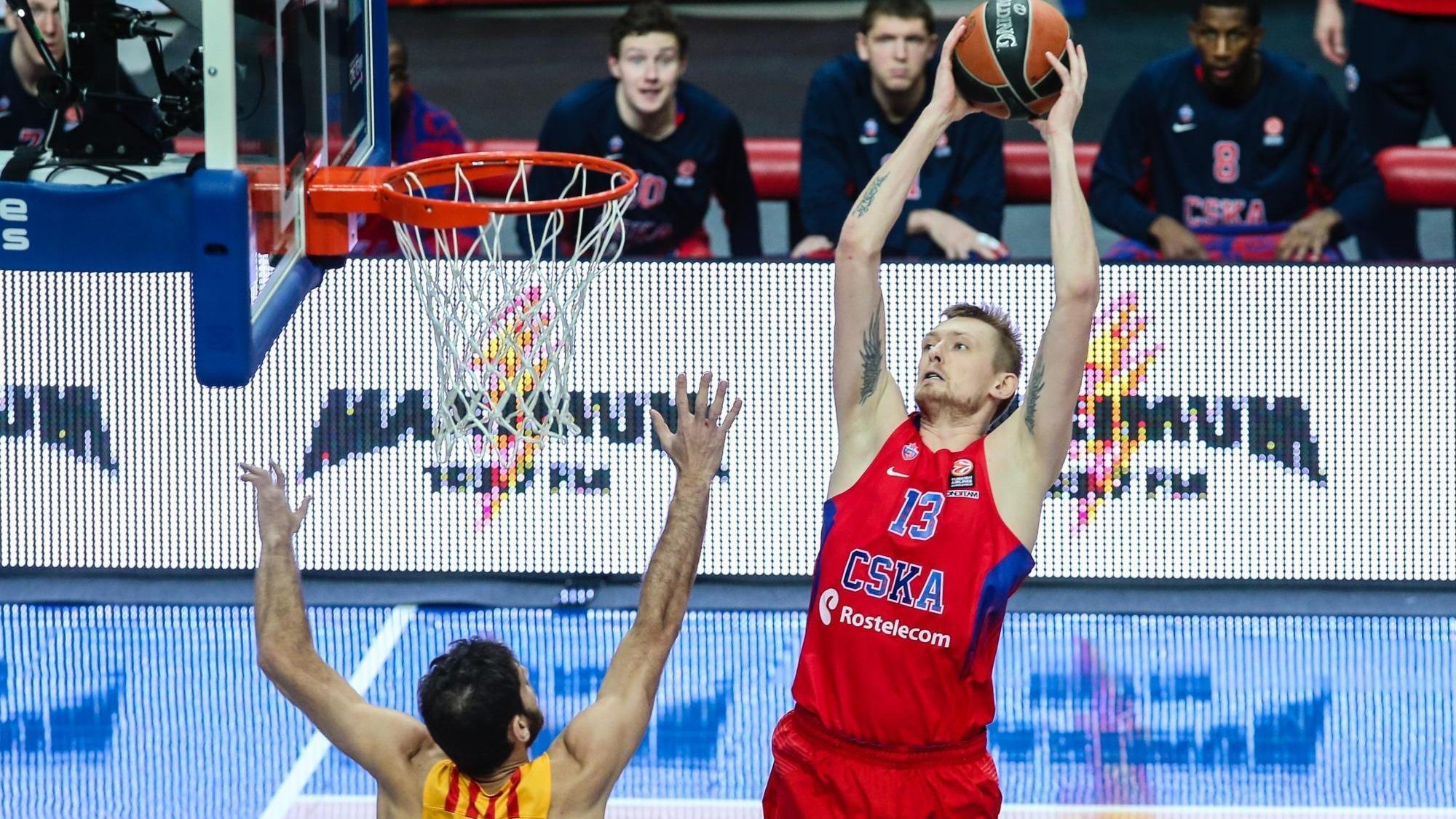 ЦСКА одержал победу первую четверть матча с«Барселоной» срезультатом 29:4