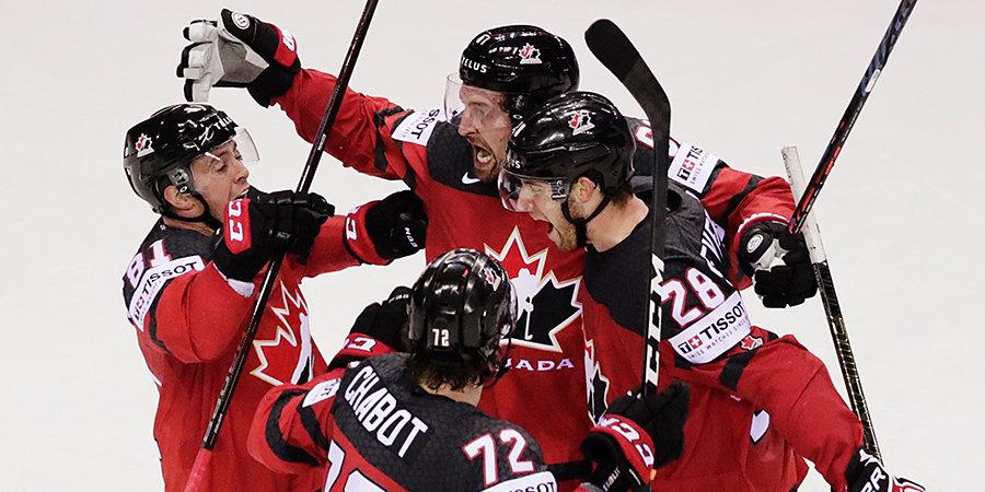 Канада прошла в полуфинал ЧМ, отыгравшись за 0,4 секунды до конца третьего периода
