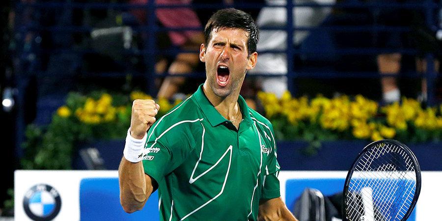 Джокович завоевал 79-й титул ATP в карьере, победив Циципаса в финале турнира в Дубае