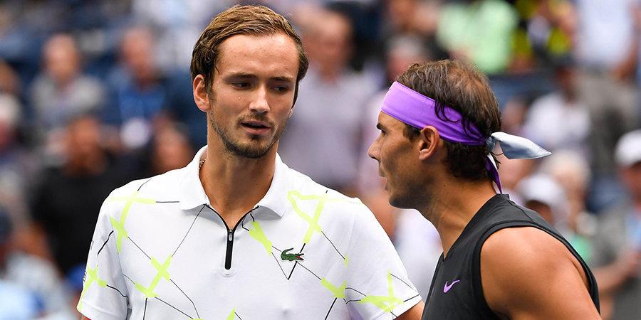 Медведев не смог взять реванш у Надаля за финал US Open. Россиянин проиграл в решающем сете, ведя 5:1