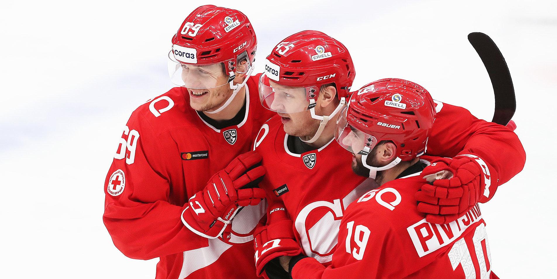 «Спартак» нанес «Куньлуню» шестое поражение подряд. Команды забросили 10 шайб на двоих