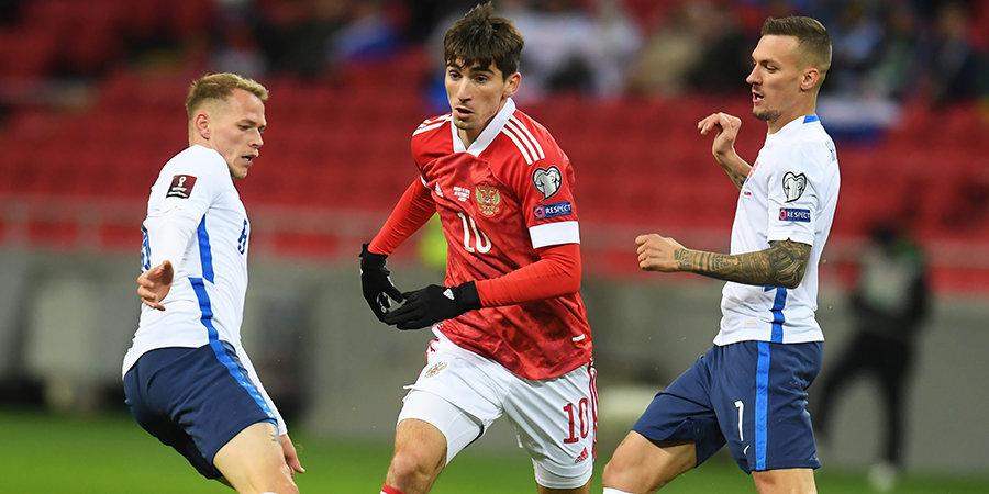 Сборная России победила Словакию в матче отбора ЧМ-2022