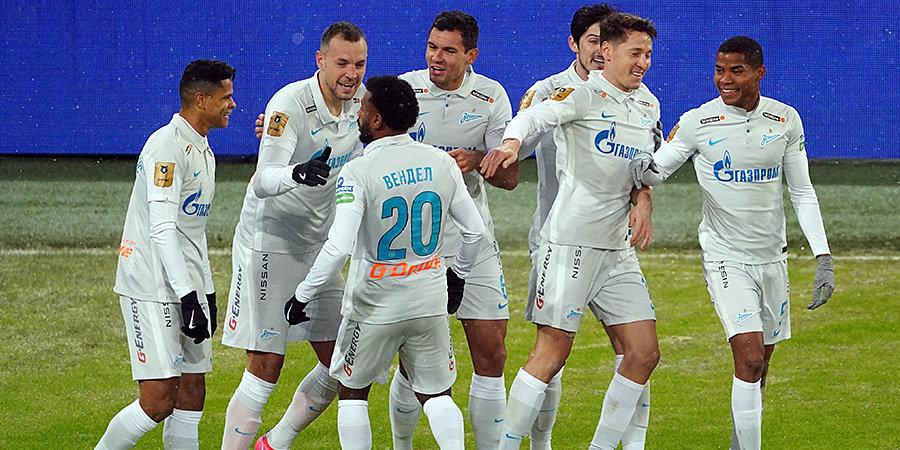 Дубль Вендела позволил «Зениту» в большинстве обыграть ЦСКА и оторваться от москвичей на 8 очков