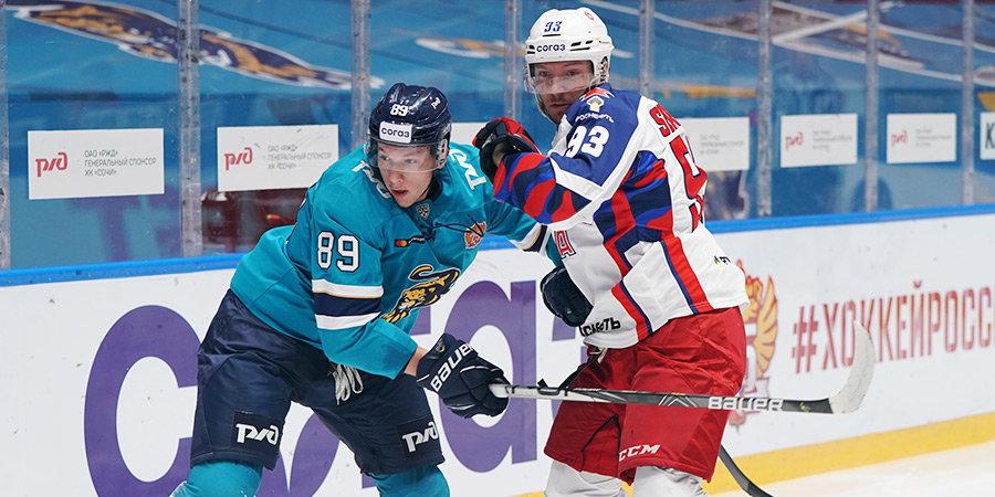 ЦСКА победил «Сочи» 17-й раз подряд, СКА забросил 9 шайб «Адмиралу» в КХЛ
