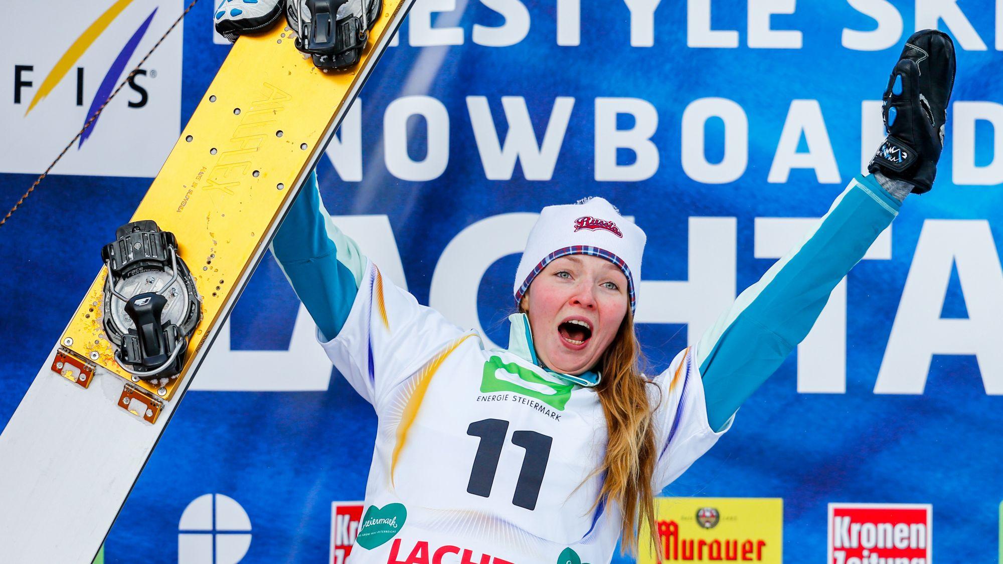 Сноубордистка Заварзина взяла небольшой Хрустальный глобус наКубке мира