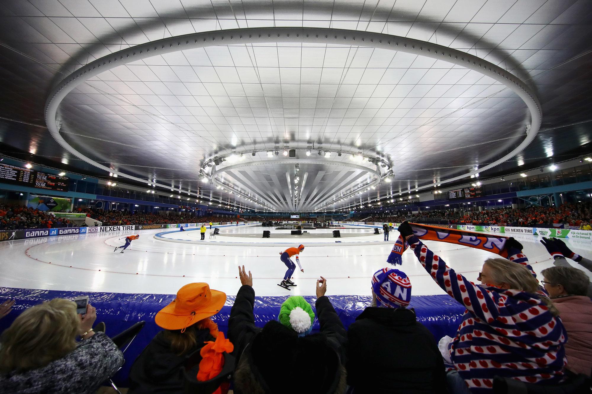 Голландский конькобежец Крамер одержал победу забег на5000м наОлимпиаде