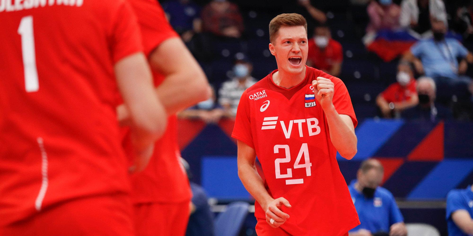 Россияне победили Финляндию в четырех сетах на чемпионате Европы