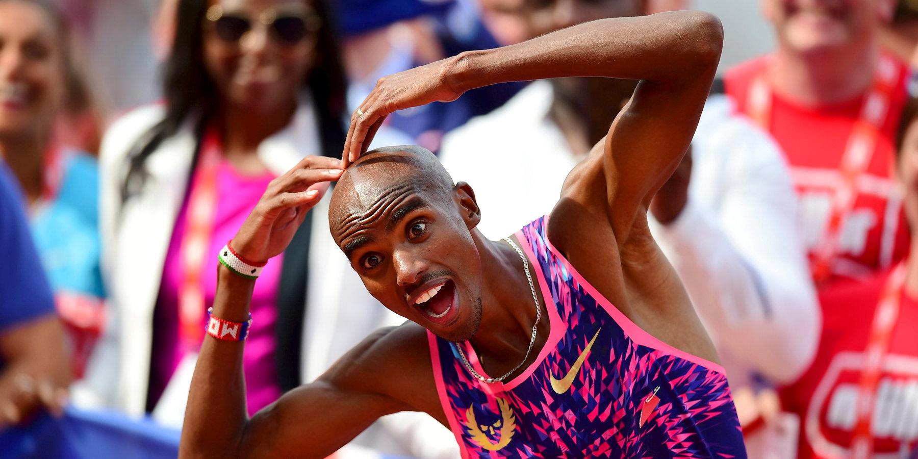Первое золотоЧМ полёгкой атлетике встолице Англии завоевал британский бегун Фара