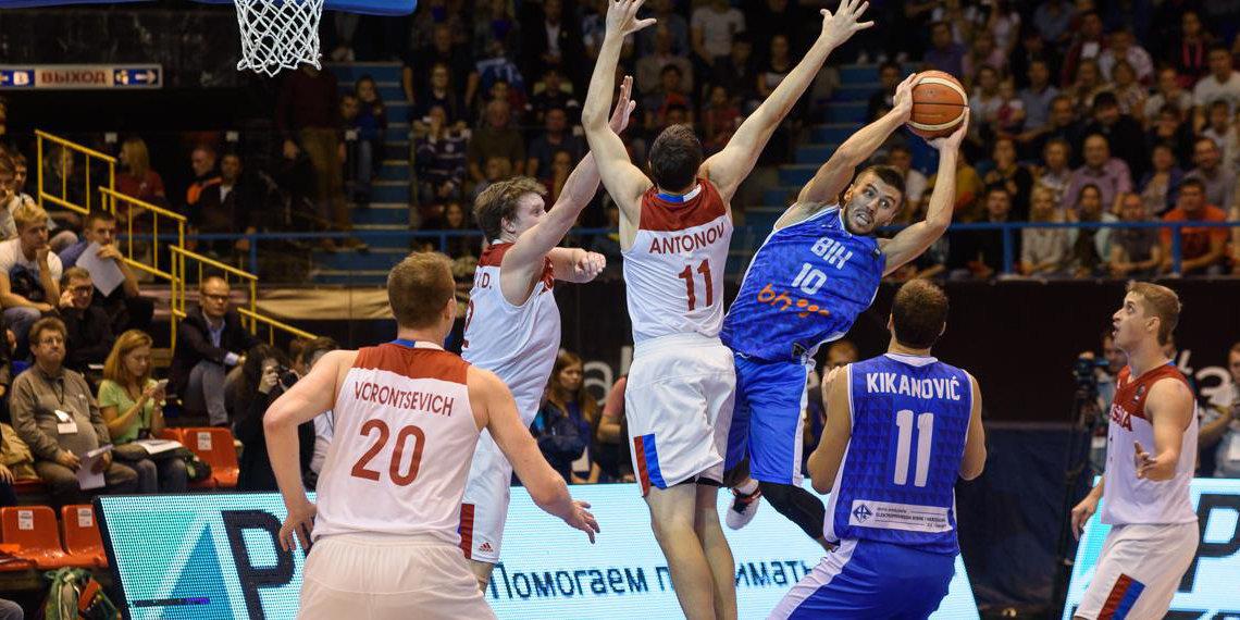 Сборная РФ побаскетболу одолела боснийцев вПерми