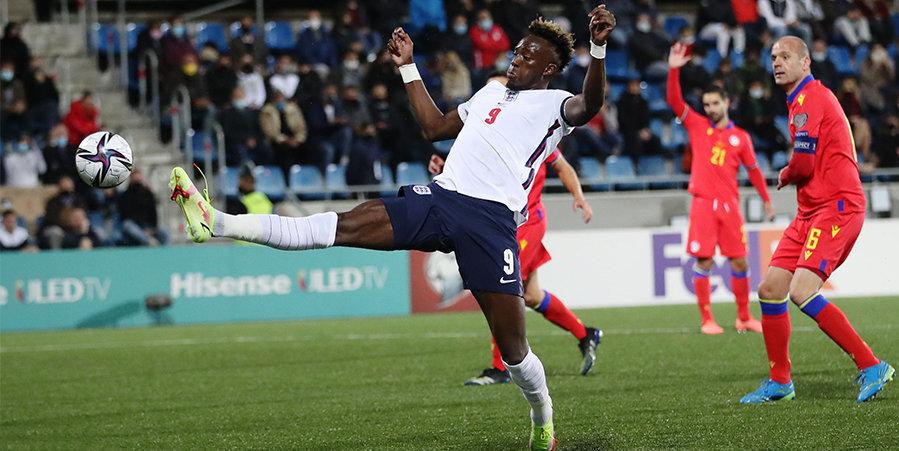 Англия забила пять голов Андорре на выезде, Польша разгромила Сан-Марино