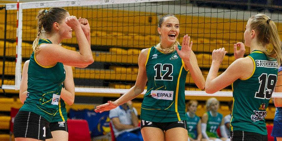 Московское «Динамо» проиграло второй матч подряд, «Заречье-Одинцово» не выиграло ни одного сета у «Минска»