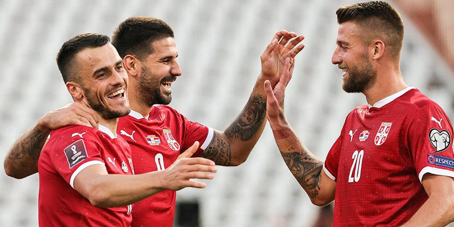 Сборная Сербии обыграла Люксембург и вышла в лидеры группы А, Холанд помог Норвегии победить Латвию