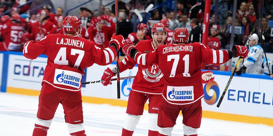 «Витязь» обыграл «Автомобилист», повторив клубный рекорд по победам подряд в КХЛ