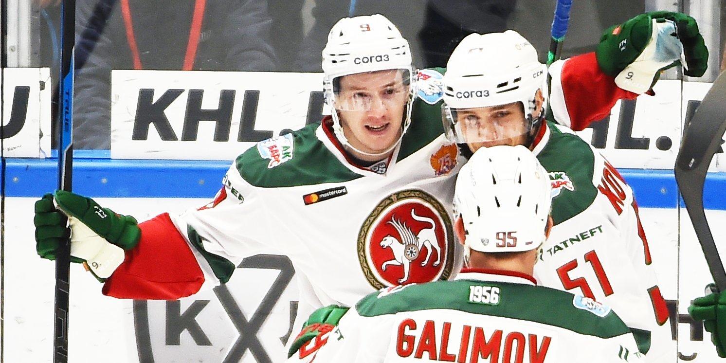 «Ак Барс» переиграл «Барыс», Кагарлицкий достиг отметки в 400 очков в КХЛ